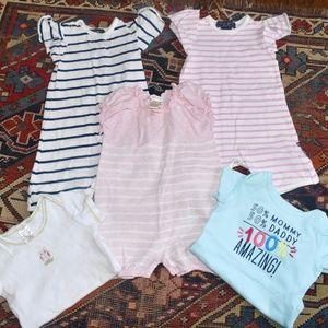 Other - Lot of 5 Designer Baby Rompers